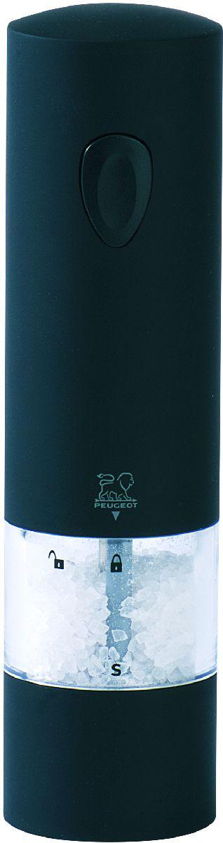 Мельница для соли Peugeot Onyx, электрическая, высота 20 смВетерок 2ГФМельницы для специй PEUGEOT имеют безупречную репутацию благодаря легендарному внутреннему механизму, который совершенствовался в течение 160 лет и продолжает улучшаться благодаря высокотехнологичным возможностям современного производства.