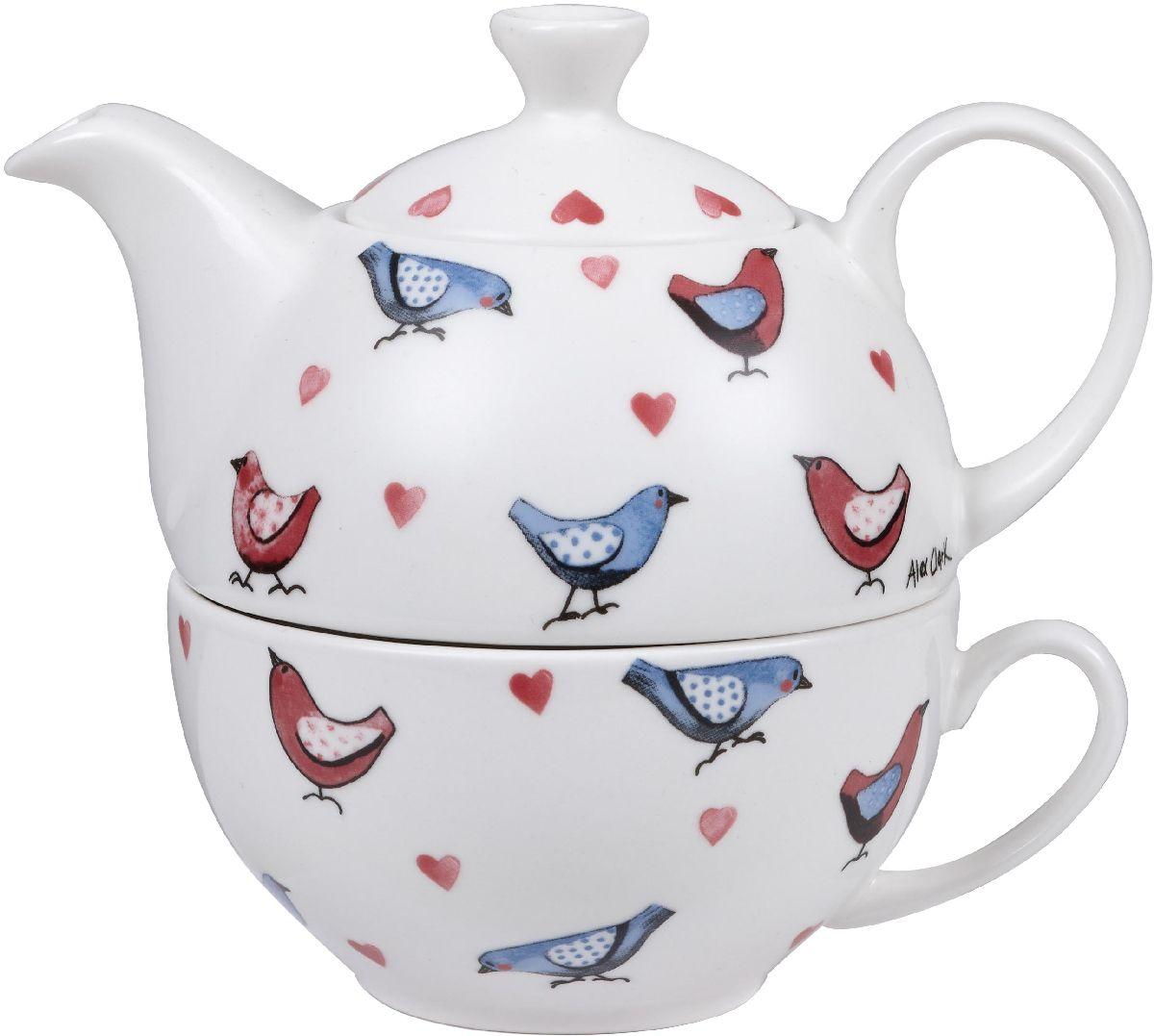 Набор чайный Churchill, 2 предмета. ACLB00121115510Коллекция Птички - уникальное сочетание живой природы и прекрасные воспоминания из детства. Легкий и простой дизайн с пастельными красками идеально подойдет для любой кухни.