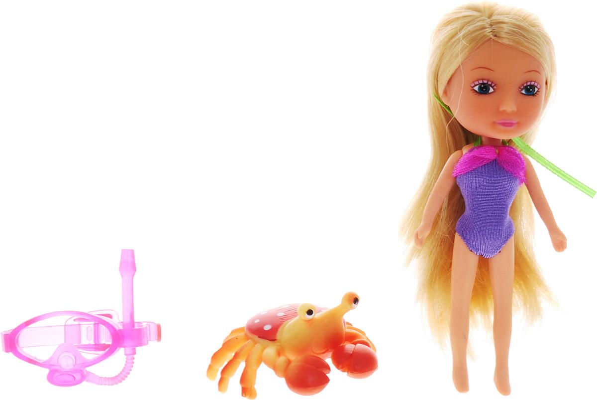 Veld-Co Мини-кукла Mona с крабом veld co мини кукла mona с черепахой
