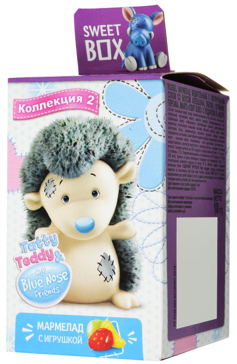 Sweet Box Tatty Teddy & My Blue Nose Friends жевательный мармелад с игрушкой, 10 г0120710Sweet Box (Сладкая коробочка) - коробочка со сладостями и игрушкой.Свитбоксы популярны среди детей и взрослых, коллекционирующих игрушки. Персонажи коллекций открывают удивительные миры, вовлекают в игру, дарят незабываемые впечатления.В этой коллекции голубые носы, лоскутные заплатки и чарующее обаяние! 10 милых зверят! Пока не откроете коробочку - не узнаете, какая игрушка вам попалась!Игрушка предназначена для детей старше трех лет.Уважаемые клиенты! Обращаем ваше внимание, что полный перечень состава продукта представлен на дополнительном изображении.