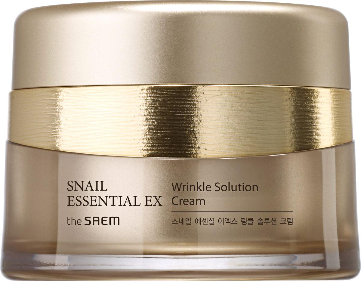 The Saem Крем антивозрастной Snail Essential EX Wrinkle Solution Cream, 60 мл114580Антивозрастной улиточный крем для лица премиум-класса. Благодаря основным ингредиентам линии – концентрированному комплексу Golden Snail, аденозину и коллагену – интенсивно увлажняет и разглаживает морщины.