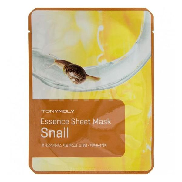 TonyMoly Маска-эссенция для лица Essence Sheet Mask-Snail Skin Damage Care, 20 грFS-00897Использование маски придаст лицу гладкость, эластичность, уменьшит проявление угрей и сделает кожу сияющей и здоровой.