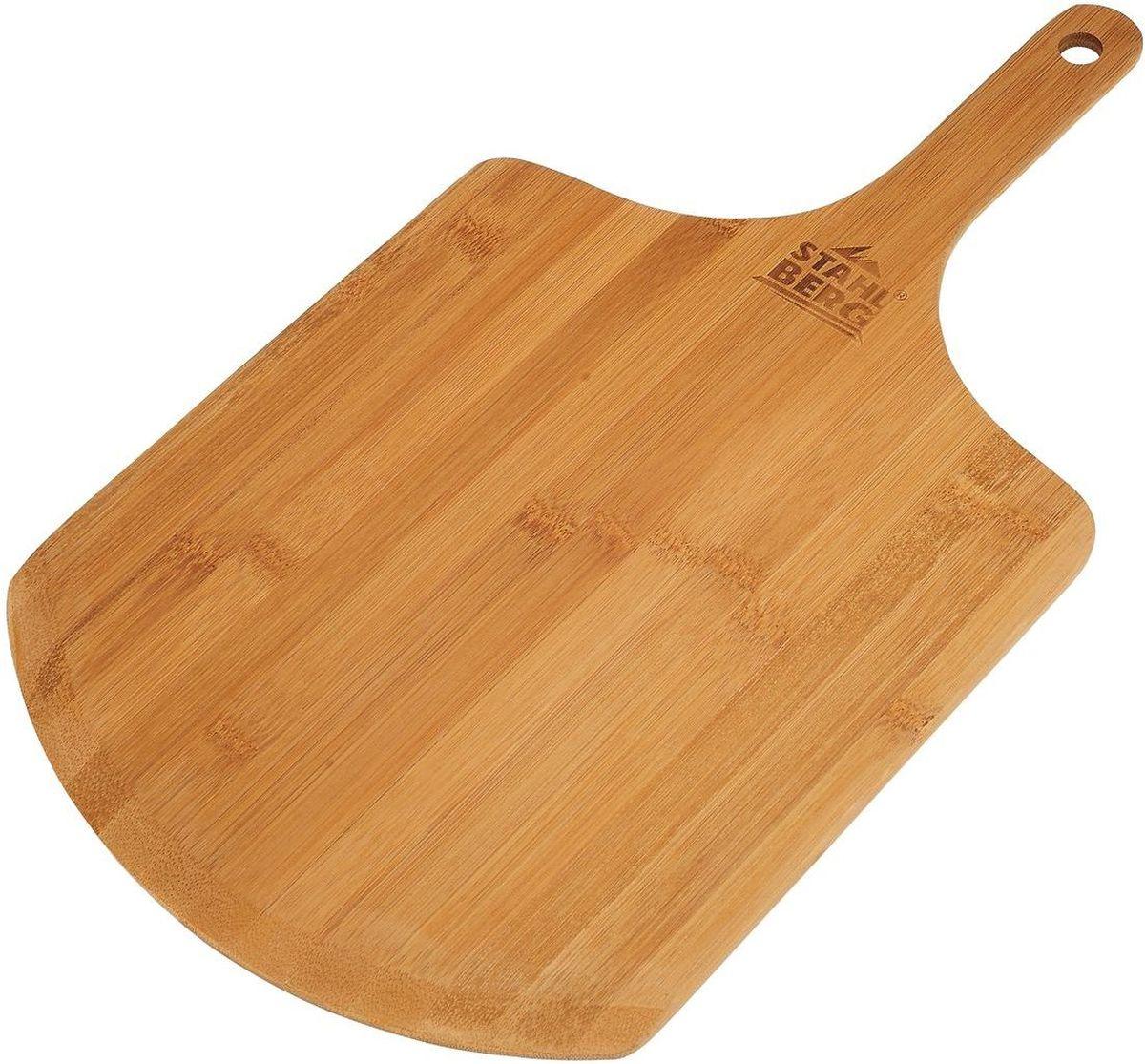 Доска для пиццы Stahlberg, 50 х 28 х 0,8 см115510Посуда STAHLBERG изготовлена только из качественных, экологически чистых материалов. Также уделяется особое внимание дизайну продукции, способному удовлетворять вкусы даже самых взыскательных покупателей. Сталь 8/10, из которой изготавливается посуда и аксессуары STAHLBERG, является уникальной. Она отличается высокими эксплуатационными характеристиками и крайне устойчива к физическим воздействиям. Сложно найти более подходящий для создания качественной кухонной посуды материал. Отличительной чертой металлической посуды, выполненной из подобной стали, является характерный сероватый оттенок поверхности и особый блеск. Это позволяет приготовить более здоровую пищу.