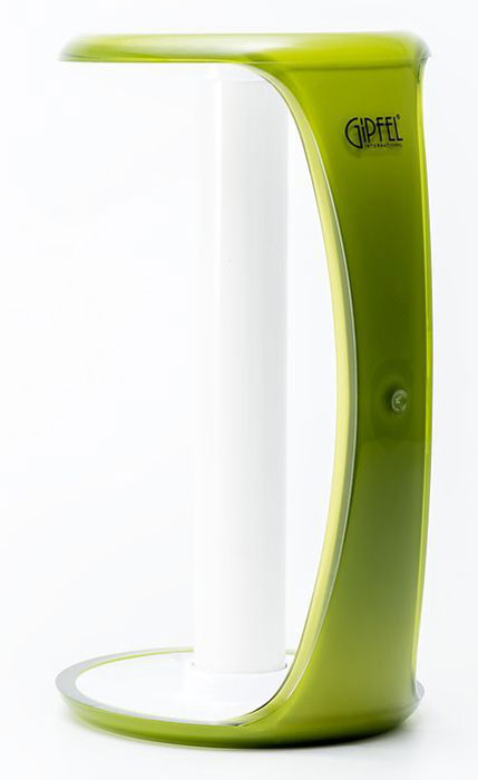 Держатель для бумажного полотенца Gipfel Arco, цвет: зеленый, белый, 13,5 х 26 смПЦ1560КРДержатель для бумажного полотенца Gipfel Arco изготовлен только из качественных, экологически чистых материалов. Также уделяется особое внимание дизайну продукции, способному удовлетворять вкусы даже самых взыскательных покупателей. Сталь 8/10, из которой изготавливается посуда и аксессуары Gipfel, является уникальной. Она отличается высокими эксплуатационными характеристиками и крайне устойчива к физическим воздействиям. Сложно найти более подходящий для создания качественной кухонной посуды материал. Отличительной чертой металлической посуды, выполненной из подобной стали, является характерный сероватый оттенок поверхности и особый блеск. Это позволяет приготовить более здоровую пищу.