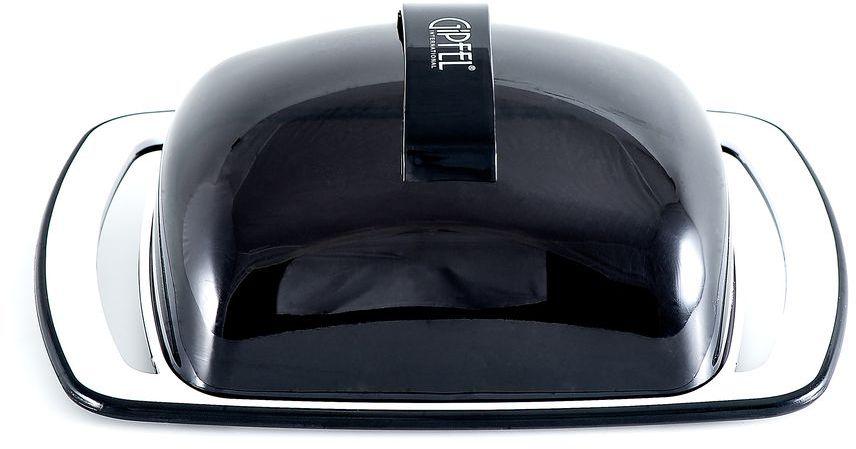 Масленка Gipfel Arco, цвет: черный, белый, 18,5 х 11,8 х 6,7 смПЦ1461ГЖМасленка Gipfel Arco, выполненная из высококачественного пластика, предназначена для красивой сервировки и хранения масла. Она состоит из подноса и крышки. Масло в ней долго остается свежим, а при хранении в холодильнике не впитывает посторонние запахи. Масленка идеально подойдет для сервировки стола и станет отличным подарком к любому празднику. Посуда Gipfel изготовлена только из качественных, экологически чистых материалов. Также уделяется особое внимание дизайну продукции, способному удовлетворять вкусы даже самых взыскательных покупателей.