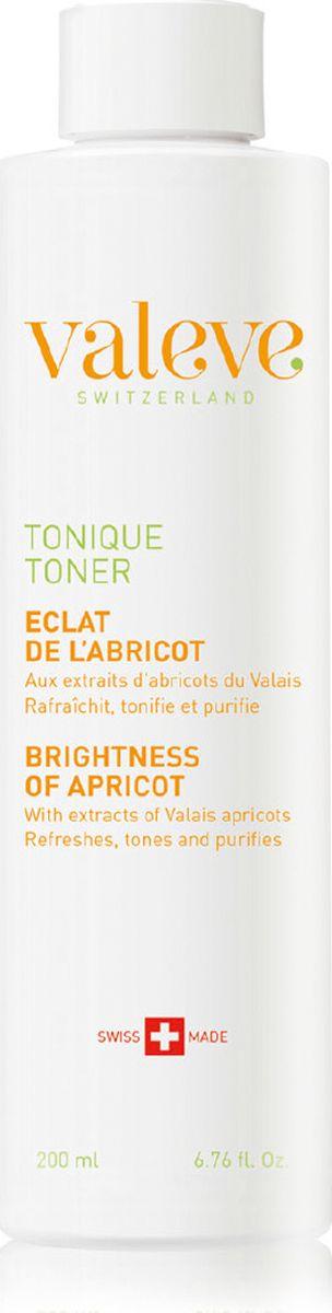 Valeve Тоник «Яркий Абрикос» Toner Brightness of apricot 200 млFS-00897Тоник создан с использованием эффективной современной технологии, и его формула предусматривает не только на тонизирующее действие, но и удаление остатков загрязнений с поверхности кожи. Формула обогащена натуральными активными ингредиентами швейцарского происхождения, включая богатую минералами альпийскую соль. Экстракт из плодов абрикоса увлажняет, питает, восстанавливает и смягчает кожу, поддерживает ее здоровье. Экстракт перечной мяты благодаря ментолу обеспечивает освежающий и тонизирующий эффект, помогает уменьшить засорение пор и очистить кожу. Регулярное использование тоника оживляет и выравнивает цвет лица, а также придает текстуре кожи мягкость, гладкость и эластичность.
