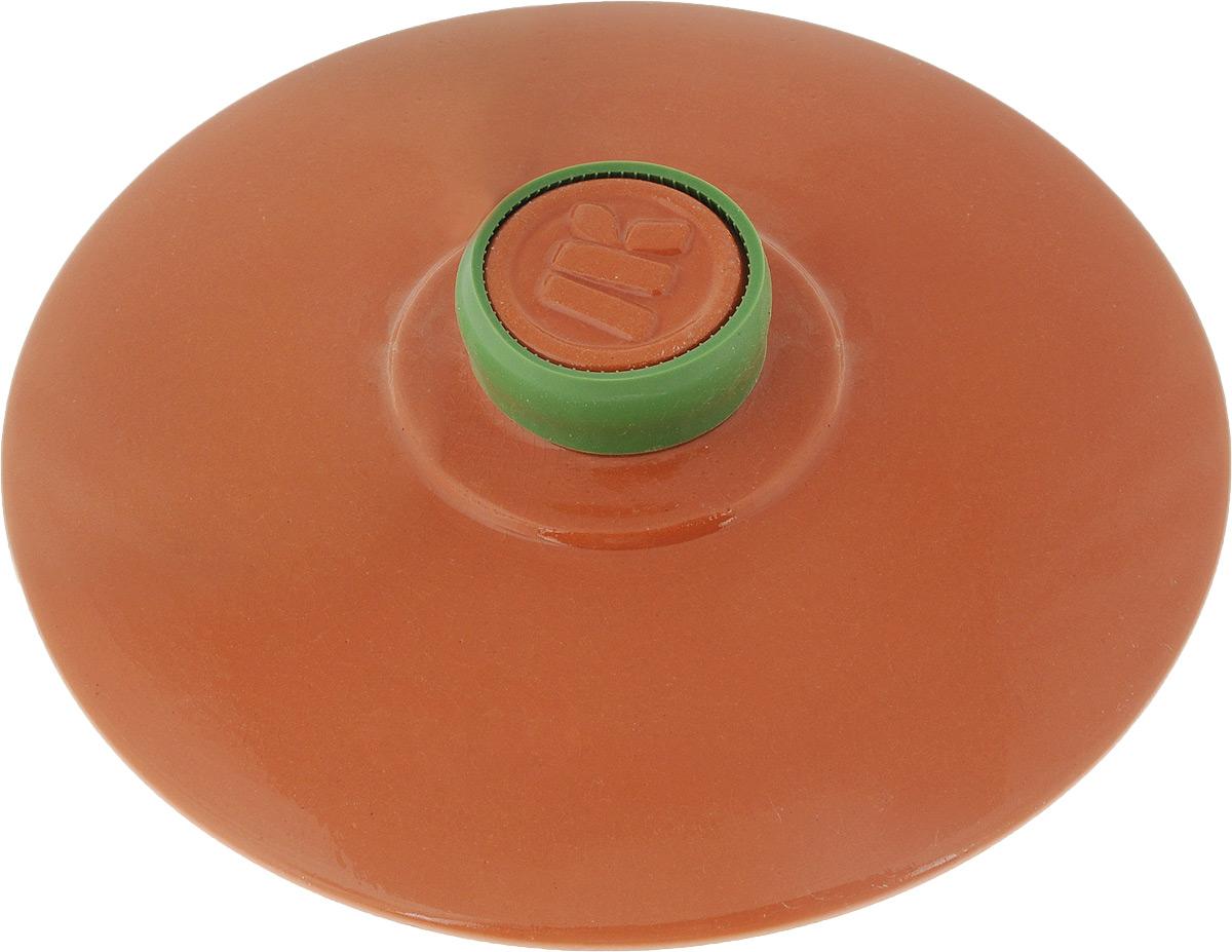 Крышка керамическая Ломоносовская керамика. Диаметр 20 см115510Крышка Ломоносовская керамика изготовлена из высококачественной жаропрочной керамики. Крышка оснащена удобной ручкой с силиконовой накладкой, которая не нагревается.Изделие плотно прилегает к краям посуды, сохраняя аромат блюд. Крышка подходит для кастрюль и сковородок. Можно использовать в микроволновой печи и духовке. Можно мыть в посудомоечной машине.