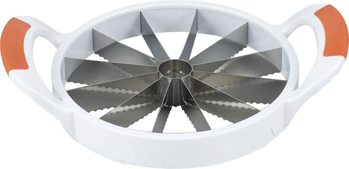 Фрукторезка Stahlberg, длина 30 см115510Посуда STAHLBERG изготовлена только из качественных, экологически чистых материалов. Также уделяется особое внимание дизайну продукции, способному удовлетворять вкусы даже самых взыскательных покупателей. Сталь 8/10, из которой изготавливается посуда и аксессуары STAHLBERG, является уникальной. Она отличается высокими эксплуатационными характеристиками и крайне устойчива к физическим воздействиям. Сложно найти более подходящий для создания качественной кухонной посуды материал. Отличительной чертой металлической посуды, выполненной из подобной стали, является характерный сероватый оттенок поверхности и особый блеск. Это позволяет приготовить более здоровую пищу.