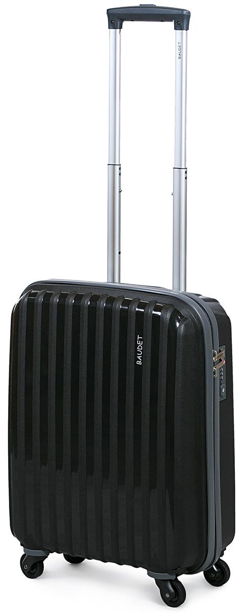 Чемодан Baudet, цвет: черный, 50 х 39 х 18 см, 35 лBHL0708801Чемодан Baudet надежный и практичныйв путешествии.Выполнен из прочного и ударостойкого полипропилена, материал внутренней отделки - полиэстеровая ткань серого цвета. Чемодан содержит продуманную внутреннюю организацию. Имеется одно большое отделение, которое закрывается по периметру на застежку-молнию. Внутри содержатся два больших отдела для хранения одежды. Для легкой и удобной перевозки чемодан оснащен четырьмяколесами, вращающимися на 360 градусов. Телескопическая ручка выдвигается нажатием на кнопку и фиксируется в двух положениях. Сверху предусмотренаручкадля поднятия чемодана.Гарантия на чемодан 2 года.Чемодан оснащен кодовым замком TSA, который исключает возможность взлома. Отверстие для ключав кодовом замке предназначено для работников таможни (открытие багажа для досмотра без присутствия хозяина). Ключ находится только у таможни и в комплекте с чемоданом не идет.