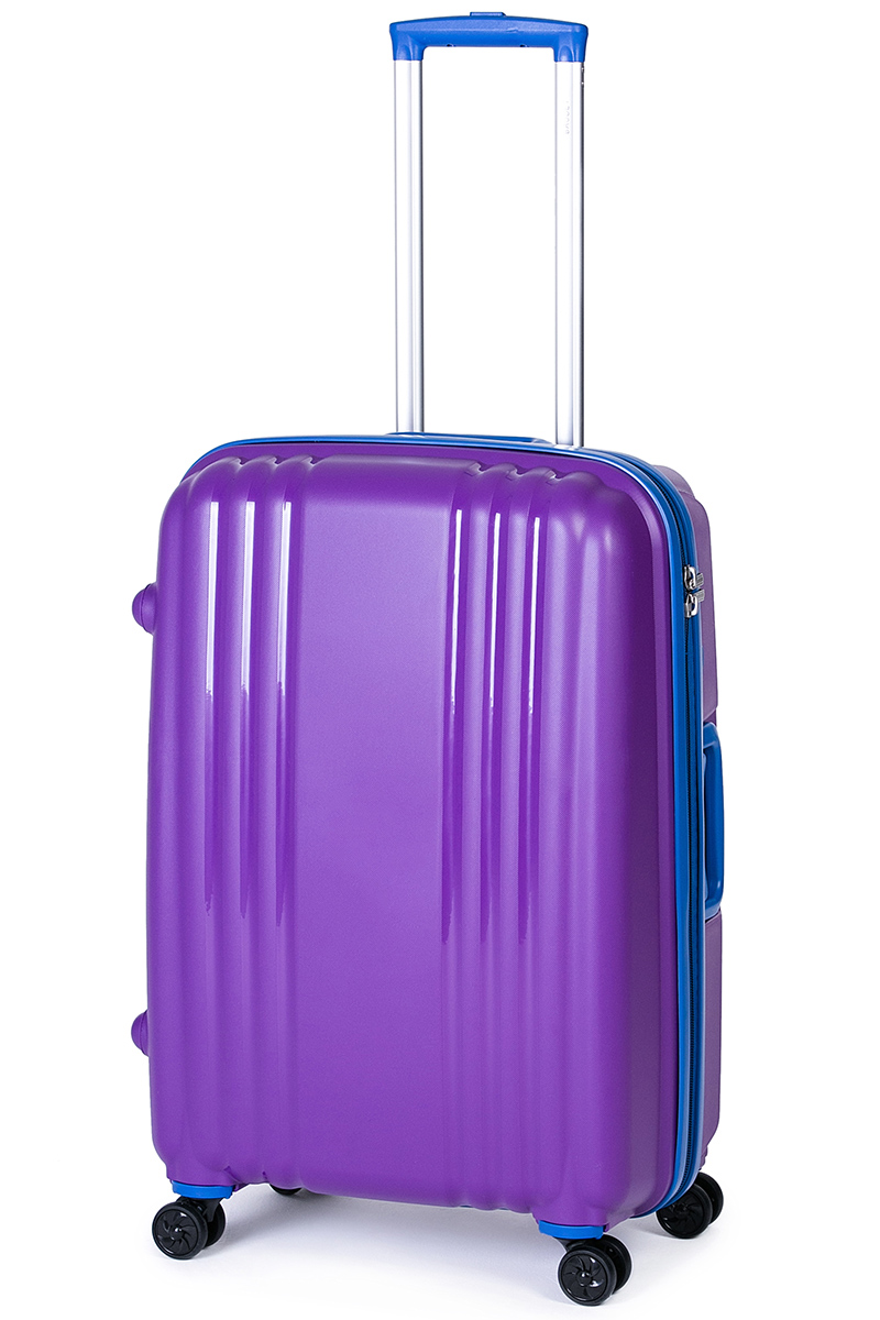 Чемодан Baudet, цвет: фиолетовый, 75 х 55 х 30 см, 123 лMW-1462-01-SR серебристыйЧемодан Baudet надежный и практичныйв путешествии.Выполнен из прочного и ударостойкого полипропилена, материал внутренней отделки - полиэстеровая ткань серого цвета. Чемодан содержит продуманную внутреннюю организацию. Имеется одно большое отделение, которое закрывается по периметру на застежку-молнию. Внутри содержатся два больших отдела для хранения одежды. Для легкой и удобной перевозки чемодан оснащен четырьмяколесами, вращающимися на 360 градусов. Телескопическая ручка выдвигается нажатием на кнопку и фиксируется в двух положениях. Сверху и сбоку предусмотрены ручки для поднятия чемодана.Гарантия на чемодан 2 года.Чемодан оснащен кодовым замком TSA, который исключает возможность взлома. Отверстие для ключав кодовом замке предназначено для работников таможни (открытие багажа для досмотра без присутствия хозяина). Ключ находится только у таможни и в комплекте с чемоданом не идет.