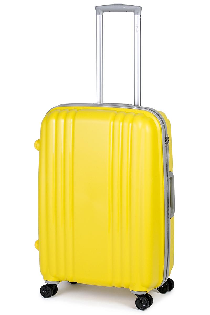 Чемодан Baudet, цвет: желтый, 75 х 55 х 30 см, 123 л332515-2800Чемодан Baudet надежный и практичныйв путешествии.Выполнен из прочного и ударостойкого полипропилена, материал внутренней отделки - полиэстеровая ткань серого цвета. Чемодан содержит продуманную внутреннюю организацию. Имеется одно большое отделение, которое закрывается по периметру на застежку-молнию. Внутри содержатся два больших отдела для хранения одежды. Для легкой и удобной перевозки чемодан оснащен четырьмяколесами, вращающимися на 360 градусов. Телескопическая ручка выдвигается нажатием на кнопку и фиксируется в двух положениях. Сверху и сбоку предусмотрены ручки для поднятия чемодана.Гарантия на чемодан 2 года.Чемодан оснащен кодовым замком TSA, который исключает возможность взлома. Отверстие для ключав кодовом замке предназначено для работников таможни (открытие багажа для досмотра без присутствия хозяина). Ключ находится только у таможни и в комплекте с чемоданом не идет.