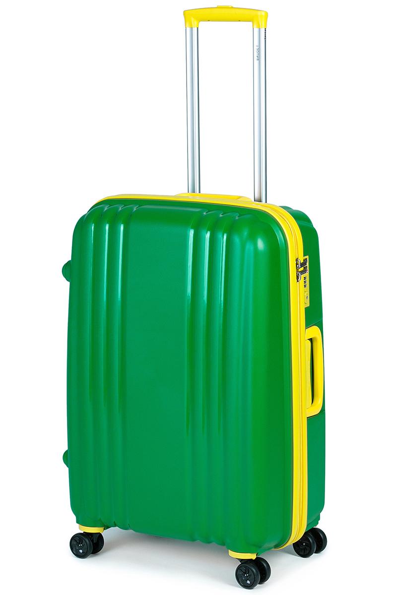 Чемодан Baudet, цвет: зеленый, 75 х 55 х 30 см, 123 лГризлиЧемодан Baudet надежный и практичныйв путешествии.Выполнен из прочного и ударостойкого полипропилена, материал внутренней отделки - полиэстеровая ткань серого цвета. Чемодан содержит продуманную внутреннюю организацию. Имеется одно большое отделение, которое закрывается по периметру на застежку-молнию. Внутри содержатся два больших отдела для хранения одежды. Для легкой и удобной перевозки чемодан оснащен четырьмяколесами, вращающимися на 360 градусов. Телескопическая ручка выдвигается нажатием на кнопку и фиксируется в двух положениях. Сверху и сбоку предусмотрены ручки для поднятия чемодана.Гарантия на чемодан 2 года.Чемодан оснащен кодовым замком TSA, который исключает возможность взлома. Отверстие для ключав кодовом замке предназначено для работников таможни (открытие багажа для досмотра без присутствия хозяина). Ключ находится только у таможни и в комплекте с чемоданом не идет.