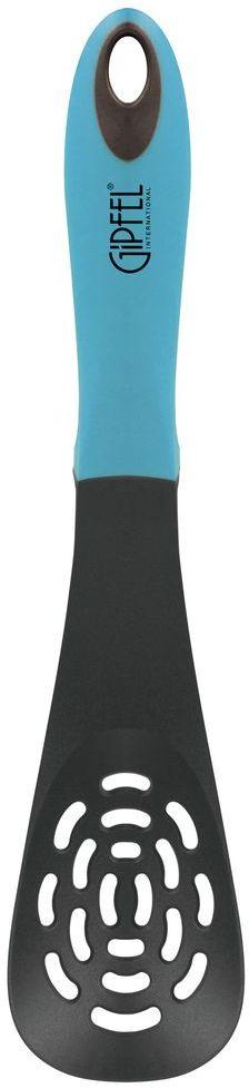 Лопатка кулинарная Gipfel Comfort, с прорезями, цвет: голубой, длина 30,9 см54 009312Посуда Gipfel изготовлена только из качественных, экологически чистых материалов. Также уделяется особое внимание дизайну продукции, способному удовлетворять вкусы даже самых взыскательных покупателей. Сталь 8/10, из которой изготавливается посуда и аксессуары Gipfel, является уникальной. Она отличается высокими эксплуатационными характеристиками и крайне устойчива к физическим воздействиям. Сложно найти более подходящий для создания качественной кухонной посуды материал. Отличительной чертой металлической посуды, выполненной из подобной стали, является характерный сероватый оттенок поверхности и особый блеск. Это позволяет приготовить более здоровую пищу.