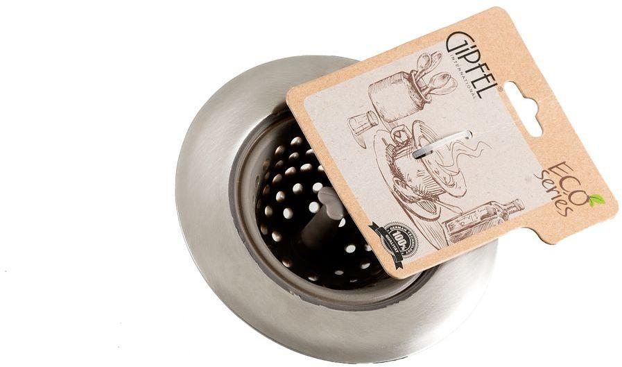 Ситечко для заварки Gipfel Eco, диаметр 11 смVT-1520(SR)Посуда Gipfel изготовлена только из качественных, экологически чистых материалов. Также уделяется особое внимание дизайну продукции, способному удовлетворять вкусы даже самых взыскательных покупателей. Сталь 8/10, из которой изготавливается посуда и аксессуары Gipfel, является уникальной. Она отличается высокими эксплуатационными характеристиками и крайне устойчива к физическим воздействиям. Сложно найти более подходящий для создания качественной кухонной посуды материал. Отличительной чертой металлической посуды, выполненной из подобной стали, является характерный сероватый оттенок поверхности и особый блеск. Это позволяет приготовить более здоровую пищу.