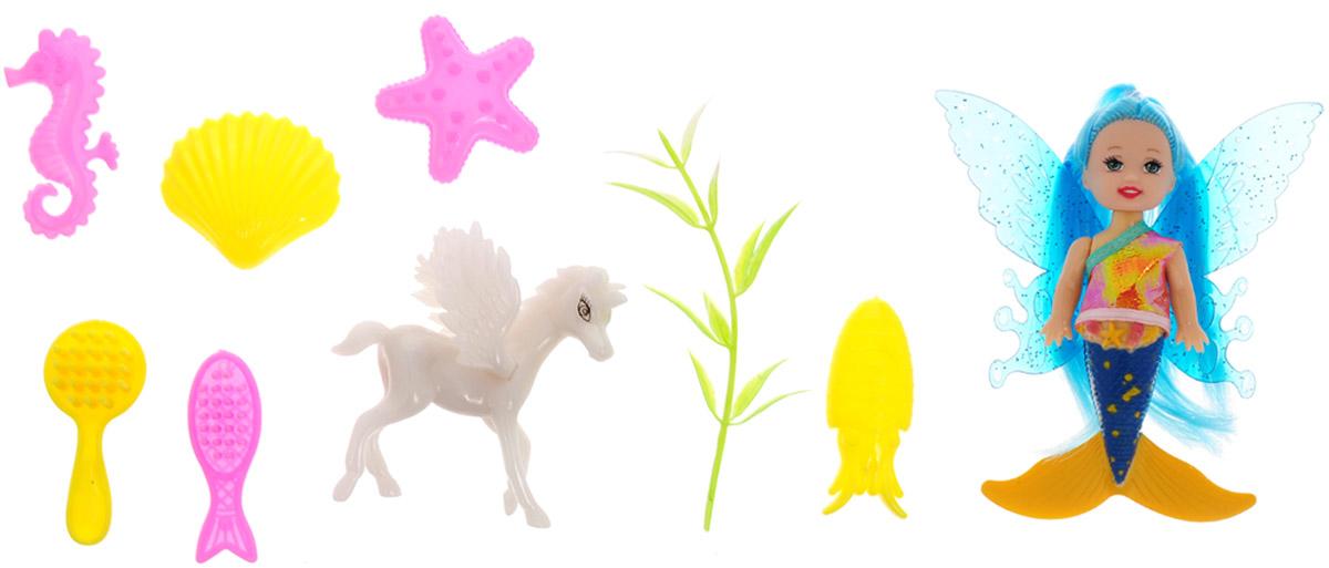 Veld-Co Игровой набор с мини-куклой Butterfly Faerie цвет волос голубой