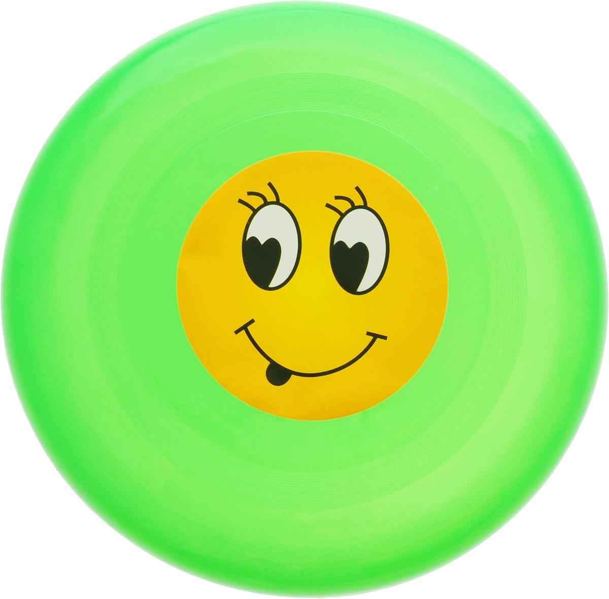 Veld-Co Летающая тарелка Смайл цвет зеленый диаметр 24 см