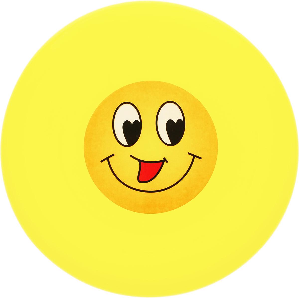 Veld-Co Летающая тарелка Смайл цвет желтый диаметр 24 см