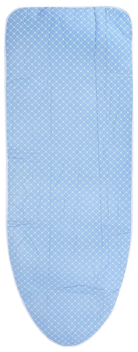 Чехол для гладильной доски Paterra Квадраты, антипригарный, с поролоном, 146 х 55 смGC204/30Антипригарный чехол для гладильной доски Paterra Квадраты необходим для обеспечения идеального результата в процессе глажения вещей. Он имеет хлопковую основу с особой антипригарной пропиткой из силикона, которая исключает пригорание одежды к чехлу в процессе глажения. Силиконовая пропитка обеспечивает эффект двустороннего глажения: чехол, нагреваясь, отдает тепло вещам. Натуральный хлопок в составе обеспечивает максимальную скорость скольжения утюга и 100% паропроницаемость. Хлопковый чехол имеет подкладку из поролона (мягкого пенополиуретана) оптимальной толщины (4 мм), которая не истончается со временем. Затяжной шнур определяет удобную и надежную фиксацию чехла на доске. Кроме того, наличие шнура делает чехол пригодным для гладильной доски любой формы и меньшего размера. Край хлопкового чехла обработан особой лентой, предотвращающей распускание ткани. Устойчивый рисунок сохраняется длительное время, даже под воздействием высоких температур.Размер чехла: 146 х 55 см.Максимальный размер доски: 140 x 50 см.Толщина подкладки: 4 мм.