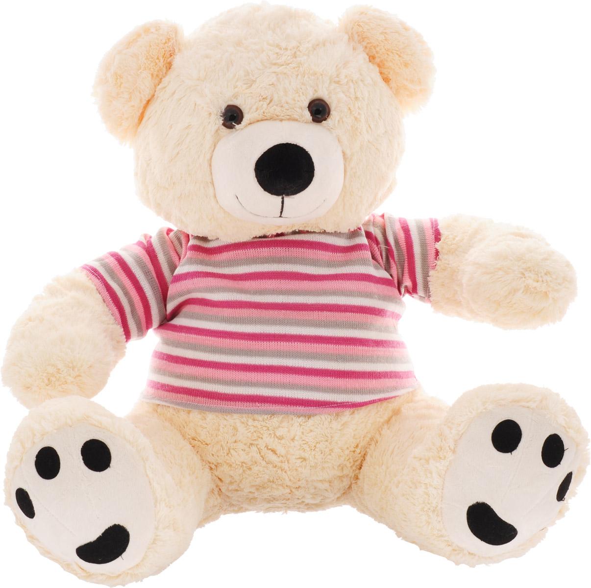 Magic Bear Toys Мягкая игрушка Мишка в свитере цвет свитера розовый серый белый 50 см мягкая игрушка magic bear toys тигр 60 см