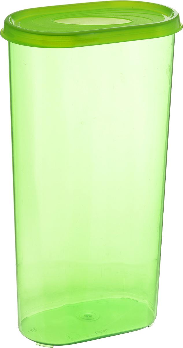 Банка для сыпучих продуктов Giaretti, цвет: зеленый, 2,4 лGR2229_зеленыйБанка для сыпучих продуктов Giaretti выполнена из высококачественного пластика. Банка предназначена для хранения круп, сахара, макаронных изделий и в том числе для продуктов с ярким ароматом (специи и прочее). Плотно прилегающая крышка не пропускает запахи содержимого в шкаф для хранения, при этом продукт не теряет своего аромата. Банки легко устанавливаются одна на другую. Можно мыть в посудомоечной машине. Объем: 2,4 л. Размер (по верхнему краю): 14,5 x 8,5 см.Высота (с учетом крышки): 28 см.