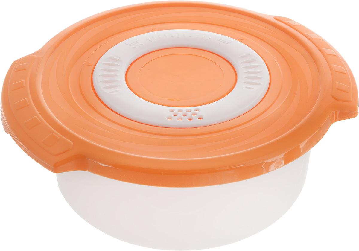 Кастрюля для СВЧ Plastic Centre Galaxy, цвет: оранжевый, 0,9 лПЦ2226ЛМНКруглая кастрюля для СВЧ Plastic Centre Galaxy изготовлена из высококачественного полипропилена, устойчивого к высоким температурам. Яркая цветная крышка плотно закрывается, дольше сохраняя продукты свежими и вкусными.Кастрюля снабжена паровыпускным клапаном, который можно регулировать. Кастрюля прекрасно подойдет для разогрева и приготовления пищи в СВЧ.Объем кастрюли: 0,9 л. Размеры кастрюли: 18,5 х 16,5 х 7,5 см.