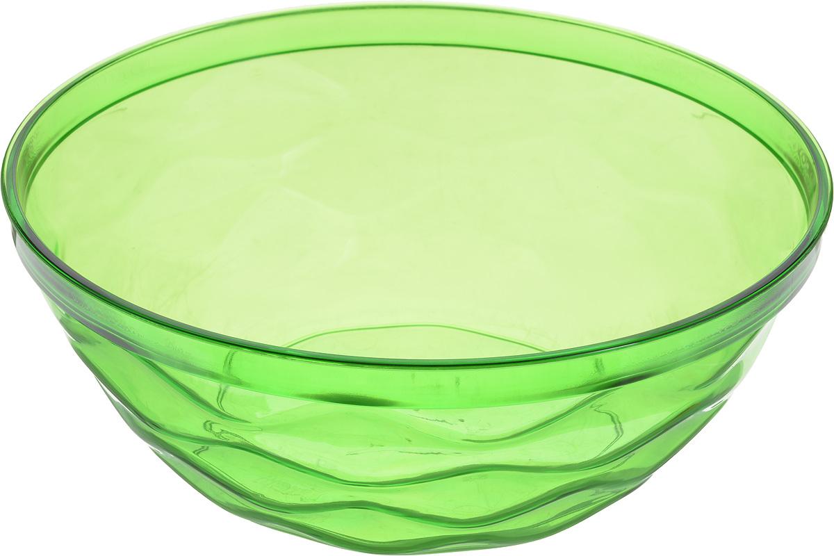Салатник Giaretti Riva, цвет: зеленый, 4 л115510Салатник Giaretti Riva выполнен из высококачественного пластика и оформлен оригинальной рельефной поверхностью. Он прекрасно впишется в интерьер вашей кухни и станет достойным дополнением к кухонному инвентарю. Диаметр салатника (по верхнему краю): 27 см.Высота стенки: 10,3 см.