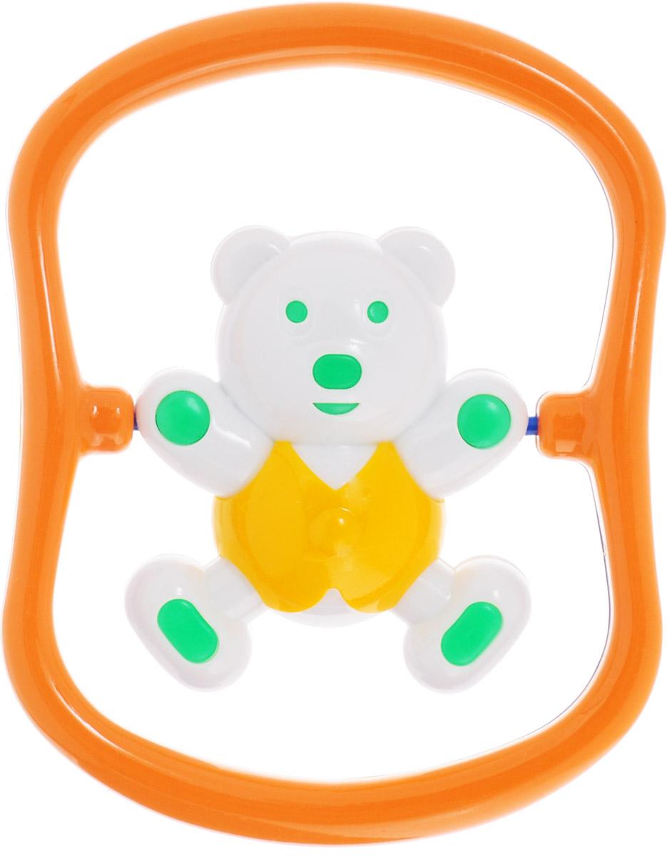 цены  Аэлита Погремушка Мишка-баюн цвет желтый зеленый оранжевый