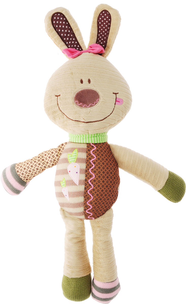BabyOno Мягкая игрушка-погремушка Кролик babyono мягкая кукла лили цвет коралловый