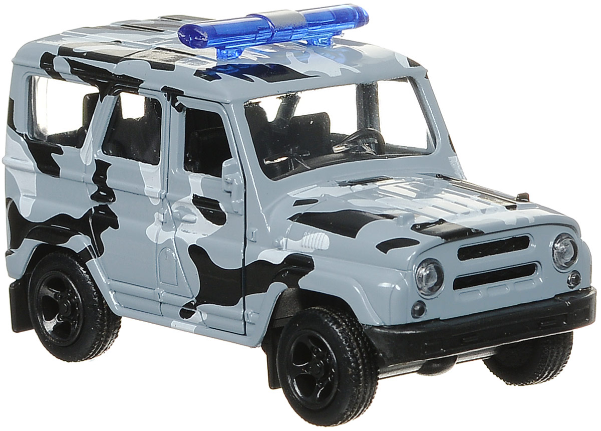 ТехноПарк Машина инерционная Омон Uaz Hunter машинки autotime машина uaz hunter аварийная