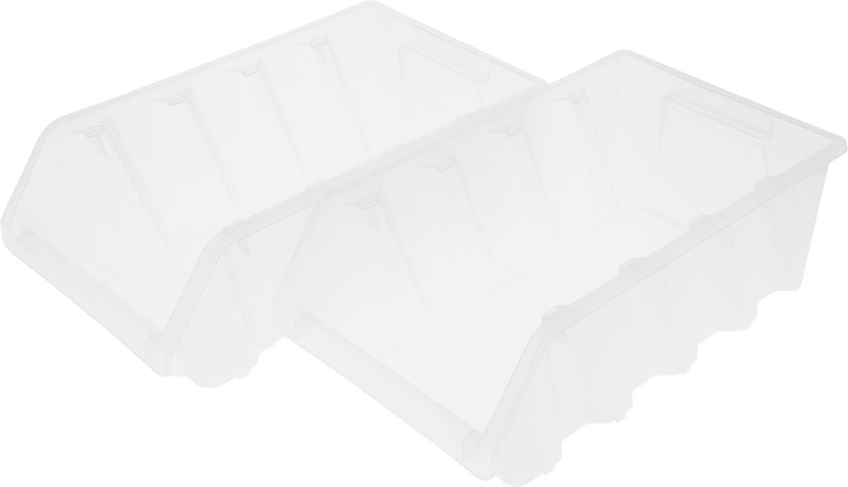 Ящик для хранения BranQ Каскад, 38,5 х 22 х 30,5 см16100Универсальный ящик для хранения BranQ Каскад, выполненный из полипропилена, поможет правильно организовать пространство в доме и сэкономить место. Емкость идеально подходит для хранения овощей, фруктов, кухонной утвари и продуктов питания.Компактная форма позволяет удобно разместить их в ящике или шкафчике.Изделие, состоящее из двух секций, позволит хранить все продукты в одном месте, избегая при этом их непосредственного контакта. Так, например, можно размещать одновременно мытые и немытые овощи и фрукты.Емкости устанавливаются друг на друга. При транспортировке - вкладываются друг в друга.Размер (одной секции): 37,5 х 22,5 х 16 см.Размер общий (в собранном виде): 37,5 х 22,5 х 30,5 см.