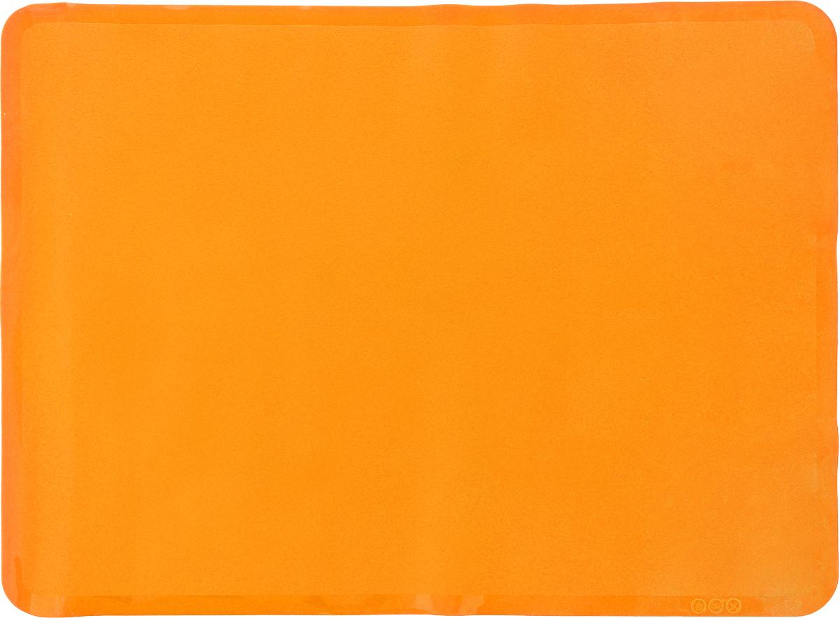 Коврик для выпечки Oursson, цвет: оранжевый, 38 х 28 см94672Антипригарный коврик для выпечки Oursson изготовлен из высококачественного силикона, способного выдерживать температуру от -20 до +220°С. Коврик позволяет готовить блюда в духовом шкафу без использования жира и масла. Исключает пригорание, способствует хорошему пропеканию изделий. Выпечка не прилипает к противню. Коврик легко очищается и моется.Коврик можно использовать в микроволновой печи, в духовом шкафу. Также подходит для хранения в холодильнике. Изделие можно мыть в посудомоечной машине.Размер коврика: 38 х 28 см.