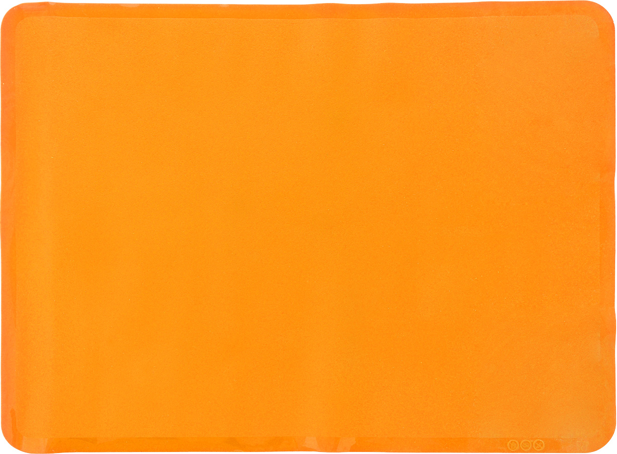 Коврик для выпечки Oursson, цвет: оранжевый, 50 х 35 см54 009312Антипригарный коврик для выпечки Oursson изготовлен из высококачественного силикона, способного выдерживать температуру от -20 до +220°С. Коврик позволяет готовить блюда в духовом шкафу без использования жира и масла. Исключает пригорание, способствует хорошему пропеканию изделий. Выпечка не прилипает к противню. Коврик легко очищается и моется.Коврик можно использовать в микроволновой печи, в духовом шкафу. Также подходит для хранения в холодильнике. Изделие можно мыть в посудомоечной машине.Размер коврика: 50 х 35 см.