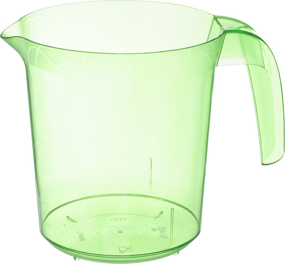 Стакан мерный Giaretti, цвет: зеленый, 1 лGR3056_зеленыйМерный прозрачный стакан Giaretti выполнен из высококачественного пластика. Стакан оснащен удобной ручкой и носиком, которые делают изделие еще более простым в использовании. Он позволяет мерить жидкости до 1 л. Удобная форма стакана позволяет как отмерить необходимое количество продукта, так и взбить/замесить его непосредственно в прямо в этой же емкости.Такой стаканчик пригодится каждой хозяйке на кухне, ведь зачастую приготовление некоторых блюд требует известной точности.Объем: 1 л.Диаметр (по верхнему краю): 13,5 см.Высота: 15 см.
