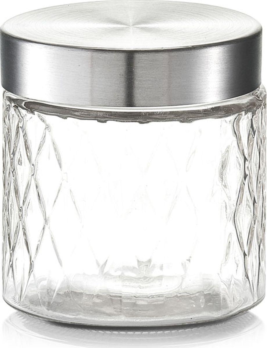 Банка для сыпучих продуктов Zeller, цвет: прозрачный, серый, 750 млVT-1520(SR)Банка для продуктов Zeller предназначена для хранения кофе, чая, сахара, круп и других сыпучих продуктов. Ваши продукты всегда в ценности и сохранности, когда они находятся в банке для продуктов Zeller.Изящная емкость не только поможет хранить разнообразные сыпучие продукты, но и стильно дополнит интерьер кухни.