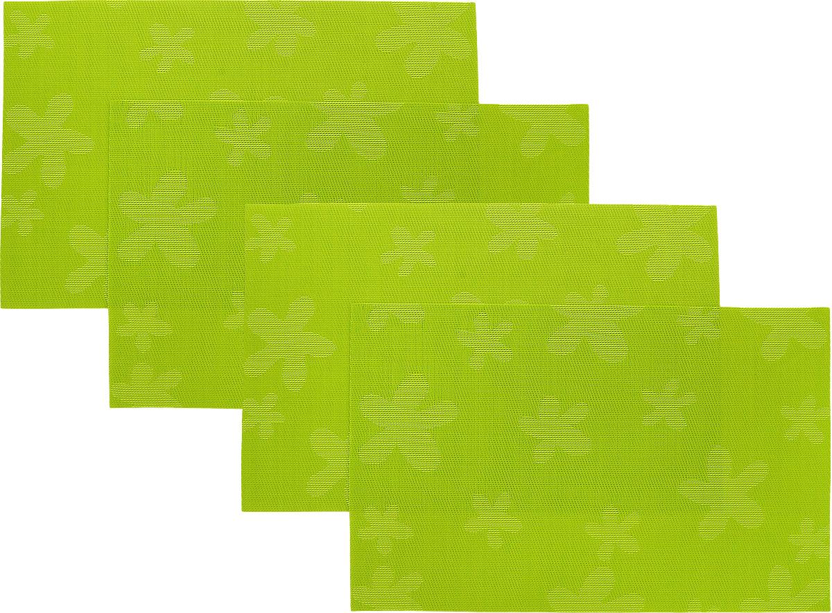 Набор сервировочных салфеток Oursson Цветы, 30 х 45 см, 4 шт115510Набор Oursson Цветы состоит из 4 салфеток, изготовленных на 70% из ПВХ и на 30% из полиэстера, они не впитывают влагу и легко моются.Набор салфеток предназначен для сервировки стола и украшения интерьера кухни, столовой или гостиной. Для ухода за салфетками можно использовать любые моющие средства. Необычный дизайн, практичность и высокая износостойкость делают салфетки удобным и полезным аксессуаром для дома.Салфетка станет прекрасным завершающим элементом в сервировке стола. С ней любой ужин будет как праздничный.Размер: 30 х 45 см.