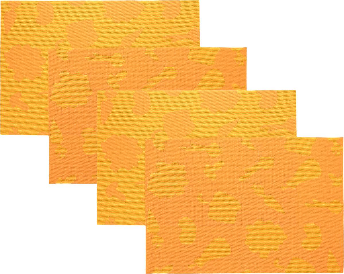 Набор сервировочных салфеток Oursson Овощи, цвет: оранжевый, 30 х 45 см, 4 шт25940Набор Oursson Овощи состоит из 4 салфеток, изготовленных на 70% из ПВХ и на 30% из полиэстера, они не впитывают влагу и легко моются.Набор салфеток предназначен для сервировки стола и украшения интерьера кухни, столовой или гостиной. Для ухода за салфетками можно использовать любые моющие средства. Необычный дизайн, практичность и высокая износостойкость делают салфетки удобным и полезным аксессуаром для дома.Салфетка станет прекрасным завершающим элементом в сервировке стола. С ней любой ужин будет как праздничный.Размер: 30 х 45 см.