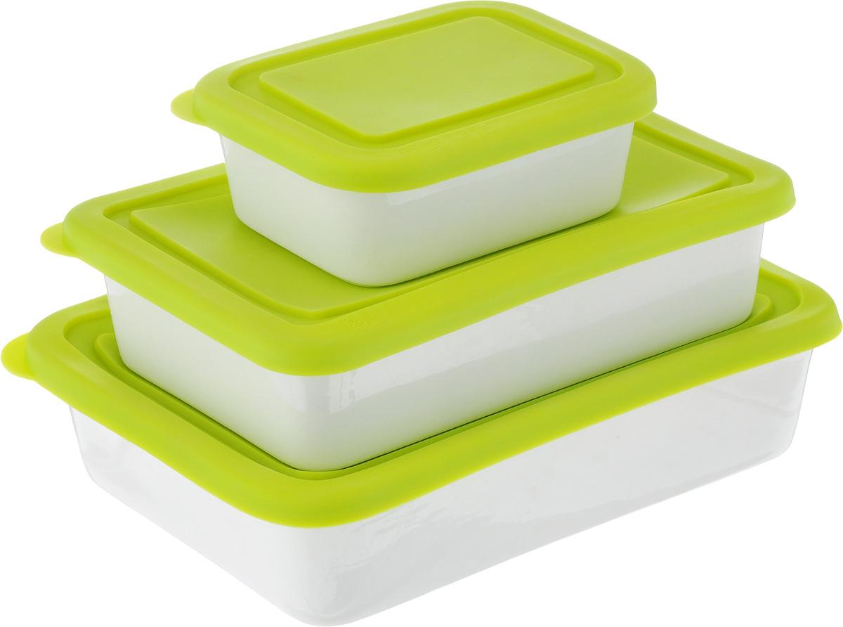 Набор форм Oursson, с крышками, цвет: салатовый, белый, 3 предмета68/5/3Форма Oursson состоит из трех форм, выполненных из керамики с глазурованным покрытием. Изделия оснащены силиконовыми крышками. Стенки изделий быстро распространяют тепло и выпечка пропекается равномерно. Готовый продукт легко вынимается из форм, а их чистка не доставит вам особого труда. Такие формы созданы, чтобы пробуждать кулинарную фантазию и удовлетворять творческие кулинарные порывы. Подходит для использования в микроволновой печи. Можно мыть в микроволновой печи.Рабочая температура: от -20 до +220°С.Объем форм: 0,25 л; 0,6 л; 0,86 л. Размеры форм: 9 х 12 см; 12 х 18,5 см; 14 х 21 см. Высота стенки: 4,5 см; 5 см.