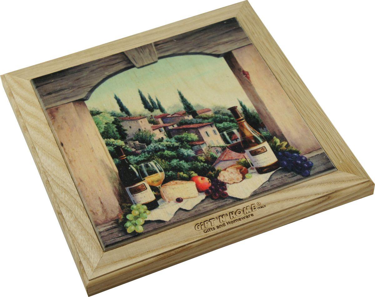 Подставка под горячее Giftnhome Завтрак в Тоскане, 20 х 20 см1546266Подставка из ценных пород древесины, дуб/ бук , с декоративной вставкой из качественной фанеры, с нанесением цветных фотопринтов. Данный товар несет двойную потребительскую функцию, обеспечивая декоративное и хозяйственное назначение. Он может быть использован для украшения помещений в качестве настенного панно и как подставка под горячую посуду.