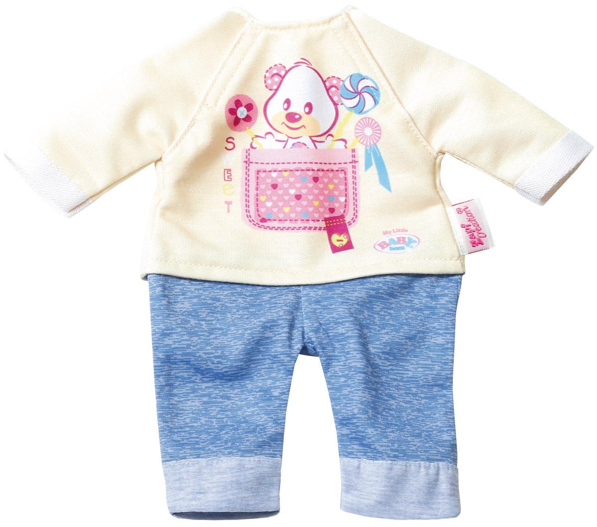 Baby Born Комплект одежды для дома цвет бежевый голубой, ZAPF Creation
