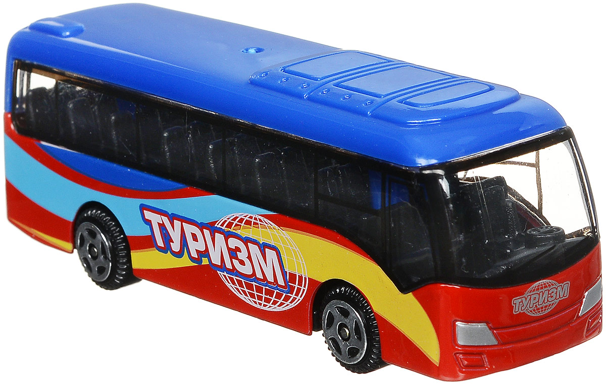 ТехноПарк Автобус Туризм цвет синий красный желтый