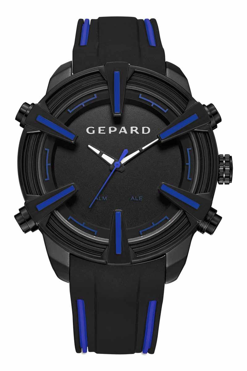 Zakazat.ru: Часы наручные мужские Gepard, цвет: черный, синий. 1236A11L3