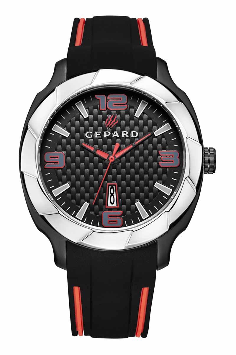 Zakazat.ru: Часы наручные женские Gepard, цвет: черный, серебристый. 1239A12L1