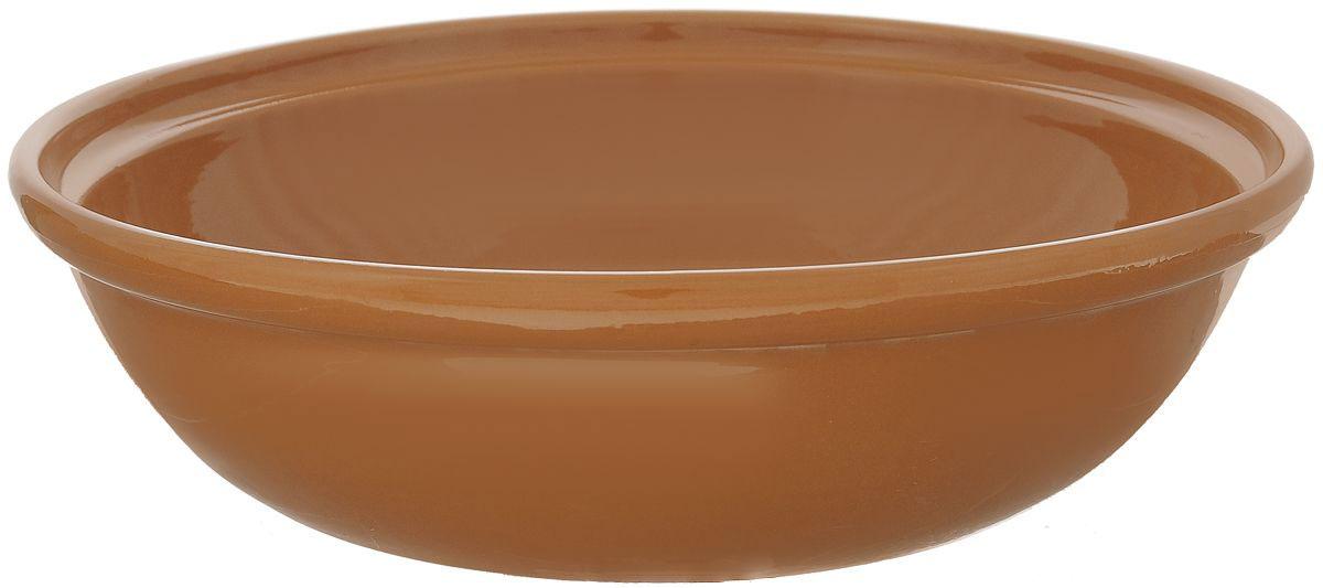 Салатник Борисовская керамика Модерн, цвет: коричневый, 2,5 л4С0346Салатник Борисовская керамика Модерн выполнен из высококачественной глазурованной керамики. Этот большой и вместительный салатник придется по вкусу любителям здоровой и полезной пищи. Благодаря современной удобной форме, изделие многофункционально и может использоваться хозяйками на кухне как в виде салатника, так и для запекания продуктов, с последующим хранением в нем приготовленной пищи. Посуда термостойкая. Можно использовать в духовке и микроволновой печи.Диаметр (по верхнему краю): 28,5 см.Диаметр (по внутреннему краю): 24,5 см.Диаметр дна: 19,5 см.Высота стенки: 8,5 см.