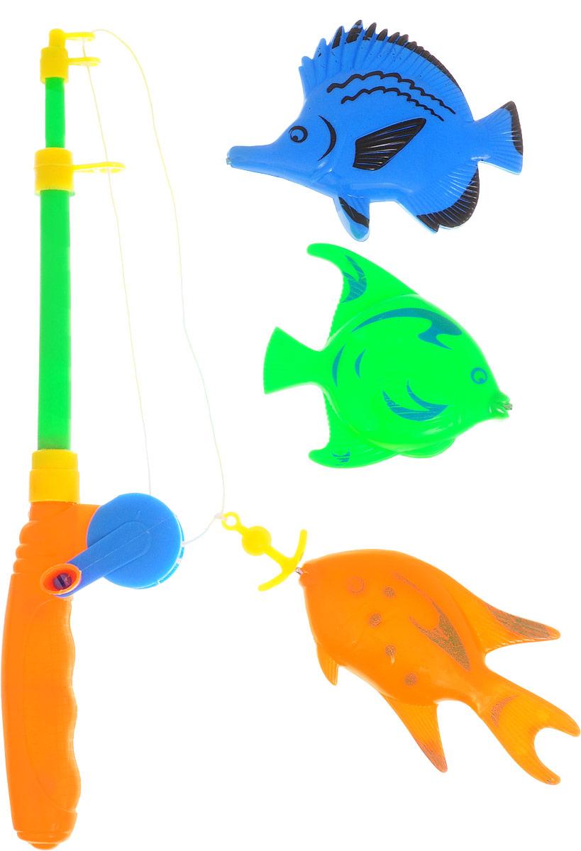 Играем вместе Игрушка для ванной Рыбалка Маша и Медведь цвет удочки салатовый оранжевый
