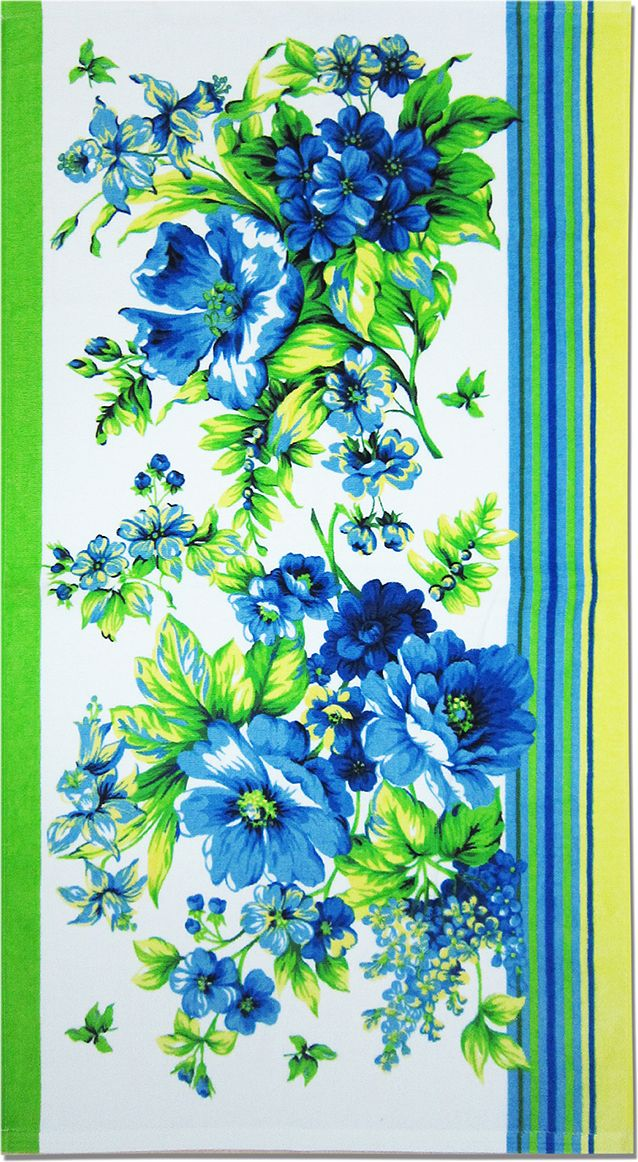 Полотенце махровое Bravo Адриана, цвет: синий, белый, зеленый, 70 х 140 см531-105Полотенце Адриана выполнено из натуральной махровой ткани (100% хлопок). Изделие отлично впитывает влагу, быстро сохнет, сохраняет яркость цвета и не теряет форму даже после многократных стирок. Полотенце очень практично и неприхотливо в уходе. Оно создаст прекрасное настроение и украсит интерьер в ванной комнате.