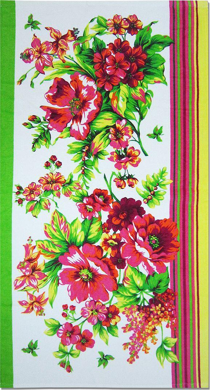 Полотенце махровое Bravo Адриана, цвет: розовый, белый, зеленый, 50 х 90 см70726Полотенце Адриана выполнено из натуральной махровой ткани (100% хлопок). Изделие отлично впитывает влагу, быстро сохнет, сохраняет яркость цвета и не теряет форму даже после многократных стирок. Полотенце очень практично и неприхотливо в уходе. Оно создаст прекрасное настроение и украсит интерьер в ванной комнате.