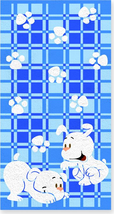 Полотенце махровое Bravo Щенки, цвет: голубой, белый, 60 х 120 смCLP446Полотенце Щенки выполнено из натуральной махровой ткани (100% хлопок). Изделие отлично впитывает влагу, быстро сохнет, сохраняет яркость цвета и не теряет форму даже после многократных стирок. Полотенце очень практично и неприхотливо в уходе. Оно создаст прекрасное настроение и украсит интерьер в ванной комнате.