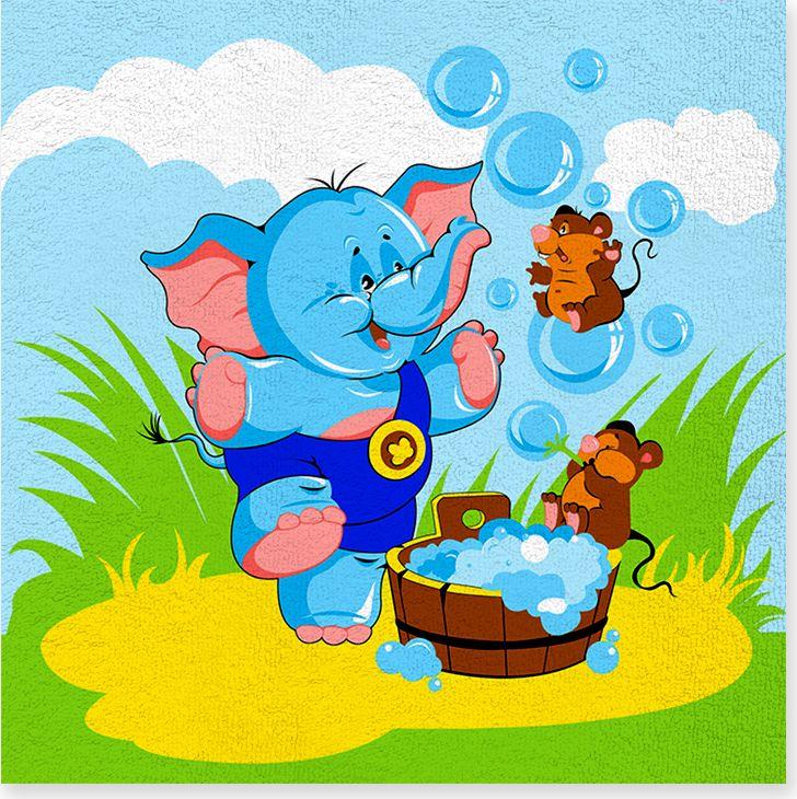 Полотенце махровое ВТ Забавный слоник, цвет: синий, 120 х 120 см. м1052_0168/5/1Махровое полотенце ВТ Забавный слоник, выполненное из натурального 100% хлопка, подарит вам и вашему малышу мягкость и необыкновенный комфорт в использовании. Полотенце украшено принтом. Ткань не вызывает аллергических реакций, обладает высокой гигроскопичностью и воздухопроницаемостью. Полотенце великолепно впитывает влагу, нежное на ощупь и не теряет своих свойств после многократной стирки. Порадуйте себя и своего ребенка таким замечательным подарком!