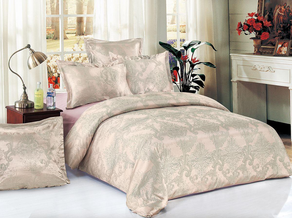 Комплект белья Versailles Пальмира, cемейный, наволочки 50x70, цвет: розовый80526Комплект постельного белья Versailles изготовлен из сатина, сотканного из хлопка с добавлением вискозных волокон. Белье дарит приятные тактильные ощущения на протяжении всего сна, а уникальные жаккардовые узоры придают танки мягкий блеск и обеспечивают материалу особую прочность. Постельное белье Versailles - отличный подарок на любое торжество и идеальный выбор для взыскательных покупателей. Комплект состоит из двух пододеяльников, простыни и четырех наволочек. Состав: хлопок 70%, вискоза 30%