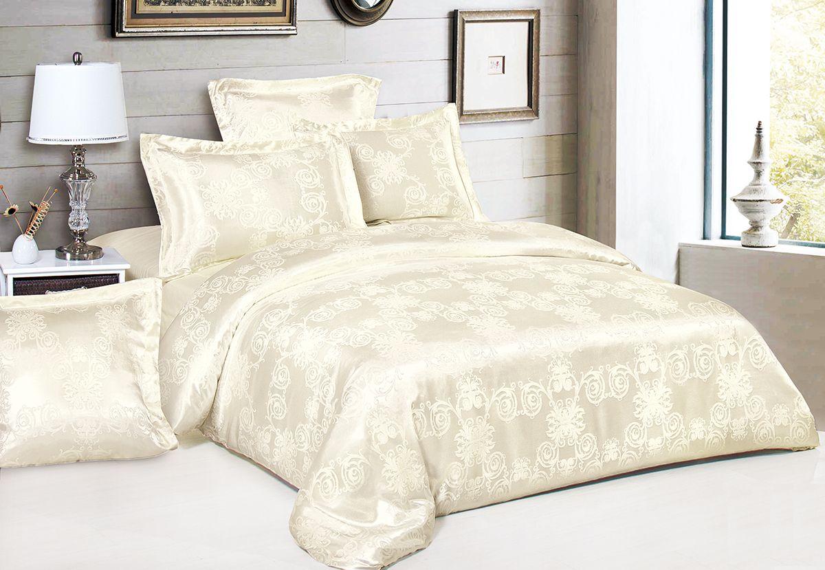 Комплект белья Versailles Сиси, 2-спальный, наволочки 50x70, цвет: желтый10503Комплект постельного белья Versailles изготовлен из сатина, сотканного из хлопка с добавлением вискозных волокон. Белье дарит приятные тактильные ощущения на протяжении всего сна, а уникальные жаккардовые узоры придают танки мягкий блеск и обеспечивают материалу особую прочность. Постельное белье Versailles - отличный подарок на любое торжество и идеальный выбор для взыскательных покупателей. Комплект состоит из пододеяльника, простыни и двух наволочек. Состав: хлопок 70%, вискоза 30%